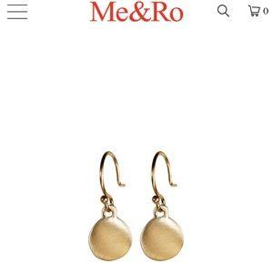 Me &Ro tiny 10k gold disc earrings